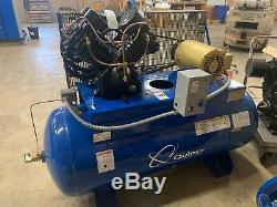 10 HP Piston Two Stage Air Compressor with 120 Gallon Air Tank, 460/3/60 Starter