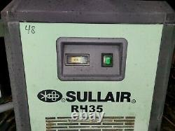 10 Hp Sullair #ST709RD Rotary Screw Air Compressor withDryer on Horizontal Tank