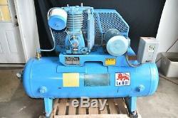 100 Gallon 3 Phase Leroi Dresser Series 5000 Air Compressor 5 Horse Motor