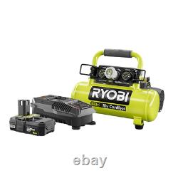 18-Volt One+ Lithium-Ion Cordless 1 Gal. Air Compressor Kit With 2.0 Ah Battery