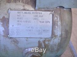 1979 Buckeye Boiler 30 Gallon Horizontal Compressed Air Tank with (2) Compressors
