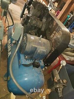 2 horizontal 15hp 3 phase puma air compressor