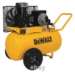 20 Gal. 200 Psi Oil Lubed Belt Drive Portable Horizontal Electric Air Compressor