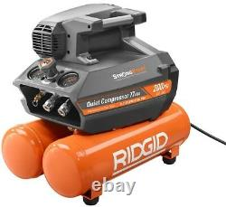 200 Psi 4.5-Gal Outdoor Portable Compact Steel Electric Quiet Air Compressor New