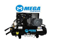 2HP, Wheel Barrow Single Stage, 8-Gallon Electric Dual Voltage Air Compressor