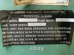 30 HP Champion Duplex Reciprocating Air Compressor