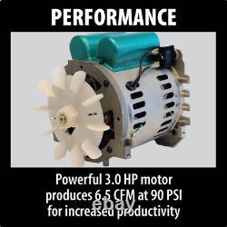5.2 Gal. 3.0 Hp Electric Single Tank Air Compressor