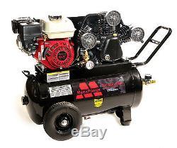 6.5 Caballos Compresor de Aire Portátil Motor Honda, Tanque de 20 Galones