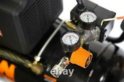 6 Gal Oil Lubricated Portable Horizontal Air Compressor Maximum Pressure 125 PSI