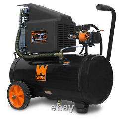 6-Gallon Oil-Lubricated Portable Horizontal Air Compressor By WEN New