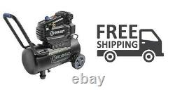8-Gal Portable Electric Horizontal Air Compressor Spray Drill Sanding Garage New