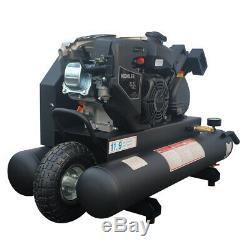 9 Gal2. Portable Wheelbarrow Air Compressor for 6.5 HP Kohler Gas Engine 125psi