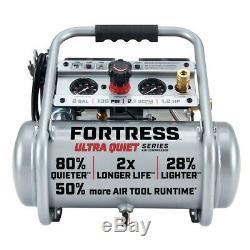 Air Compressor 2 gallon 1.2 HP 135 PSI Ultra Quiet Oil-Free Professional