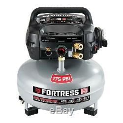 Air Compressor 6 Gallon 175 PSI Oil-Free Air Compressor