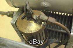 Air Compressor Cast Iron Primitive Steampunk Machine Oiler & Flywheel Hit & Miss