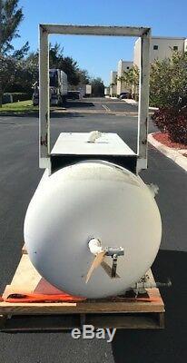Air Compressor Horizontal Cylinder Steel Accumulation Tank 240 Gal 30OD x 72L