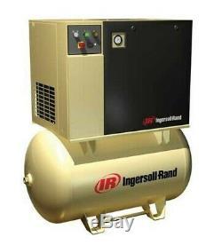 Air Compressor, Ingersol Rand Model UP6-5-150, Rotary Screw 5HP 80 Gallon Tank