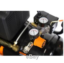 Air Compressor Oil Lubricated Portable Horizontal Hot Dog Style Tank Auto Shut