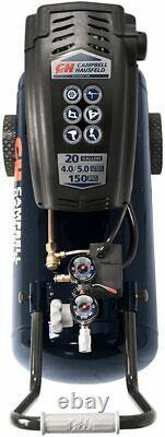 Air Compressor Portable Horizontal 20 Gallon Oil-Free 4 CFM @ 90 PSI 150 PSI