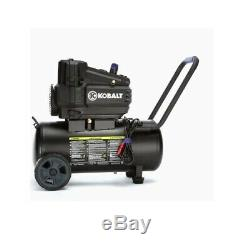 Air Compressor Single Stage Portable Electric Horizontal Removable Handle 8-Gal