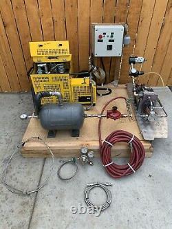 Air Driven Multi Gas Booster Nitrogen maximator High Pressure Compressor System