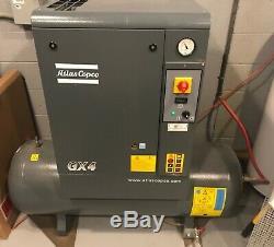 Atlas Copco GX4 5 HP Rotary Screw Air Compressor
