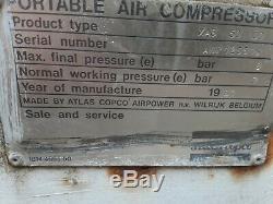 Atlas Copco XAS 80 100 CFM 120 psi