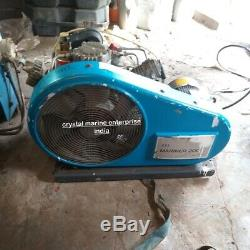 Bauer Mariner 200E 7 cfm Breathing Air Compressor good condition dual filling
