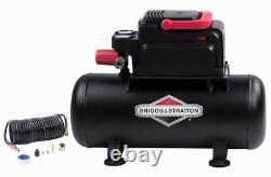 Briggs & Stratton 0200342B Steel Black 100 PSI Horizontal Air Compressor Kit