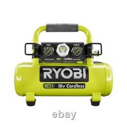 CORDLESS AIR COMPRESSOR RYOBI PORTABLE 1 Gallon Hot Dog Tank Electric Horizontal