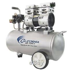 California Air Tools 8010 Quiet & Oil-free 1.0 Hp Steel Air compressor, 8 Gal