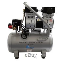 California Air Tools Quiet Flow SQ 1-HP 4.7-Gallon Steel Tank Air Compressor