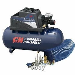 Campbell 3Gal 110PSI 120V Portable Electric Oilless Free Pump Air Compressor