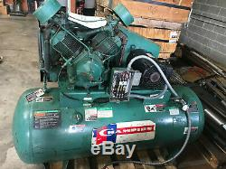 Champion 120 Gallon Hr10-12 Air Compressor 10hp 120gal Tank Rebuilt Reciprocatin