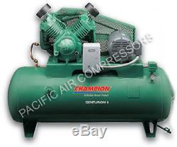 Champion Air Compressor 7.5 HP 2-stage 1-phase 120 Gal Horizontal Industrial
