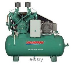 Champion Compressor (hr25-12) 120 Gal Horizontal 25 HP Three Phase (new)