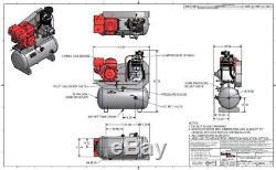 Champion Hgr7-3h 13hp Honda Gas Compressor Campbell Hausfeld Ce7003 Gx390 30 Gal