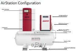 Champion L07 Rotary Screw Air Compressor 10HP W Refrigerated Air Dryer 120 Gal