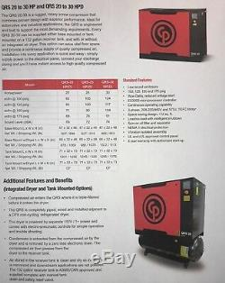 Chicago Pneumatic 3 HP Tank Mounted Rotary Compressor Qrs 3.0 HP