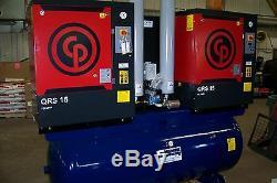 Chicago Pneumatic Air compressor Duplex 30 hp Rotary screwith w desiccant dryer