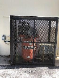 Commercial Air Compressor DevAir And Air Dryer And Custom Metal Cage