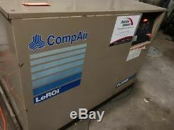 CompAir Leroi CL-25 SS Rotary Screw Air Compressor 25HP 100 CFM 125 PSI