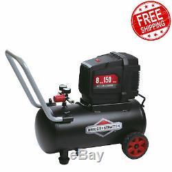 Compresor de Aire Portatil 120v Sin Aceite 8 Gal Horizontal Electrico 150 PSI