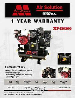 Compresor de Aire de 13 Caballos/30 Galones con Motor Honda GX390