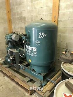 Curtis 25hp, 120 gallon, 3 phase Air Compressor