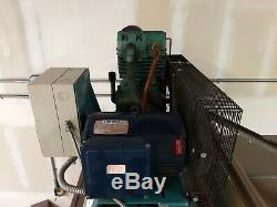 Curtis CT series 10 hp air compressor 220V sgl phase 120 gal Tank. Perfect Cond