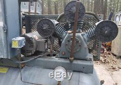 Curtis Rebuilt Twin 5 HP Air Compressors on 200 Gallon Tank