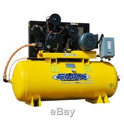 EMAX EP10H120Y1 7.5 HP 120 Gallon Industrial Plus Horizontal Air Compressor