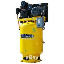 EMAX EP15V120Y3 15 HP 120 Gallon Industrial Plus Horizontal Air Compressor