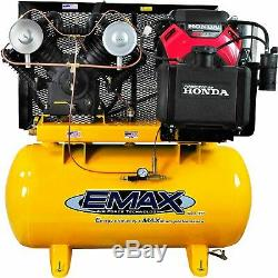 EMAX Industrial Plus 18 HP 2-Stage 60-Gallon Horizontal Gasoline Air Compressor